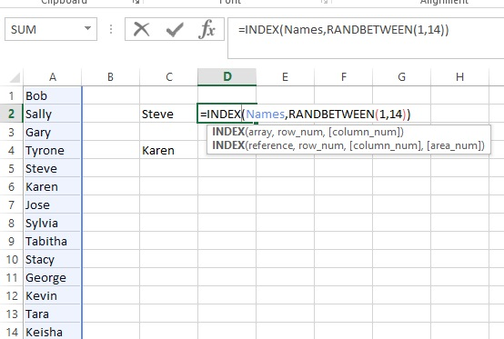 Excel: Randomly Select Names from a List – Analytics4All