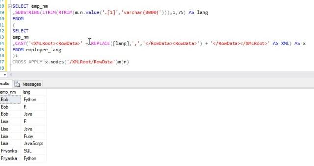 XML Parsing: Advanced SQL – Analytics4All